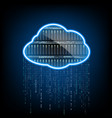 cloud computing server for data storage abstract vector image