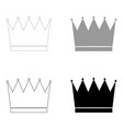 Crown the black and grey color set icon