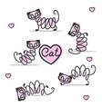 cute cats set vector image