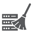 database cleaning glyph icon data and analytics vector image vector image