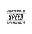 decorative italic sans serif font vector image vector image