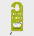 door hanger please do not disturb vector image vector image