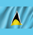 flag saint lucia realistic icon vector image vector image