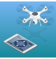 Full control of drone Drone being flown in an vector image vector image