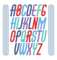 funky tall upper case english alphabet letters vector image vector image