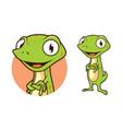 gecko lizard chameleon character in cartoon style vector image vector image