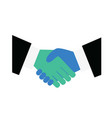 handshake icon symbolizing an agreement signing a vector image vector image