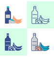 histamine high food icon set in flat and line vector image vector image