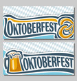 horizontal banners for oktoberfest vector image