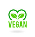 icon for vegan food bio ecology organic logos vector image vector image