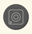 image of the camera a round line icon with vector image vector image