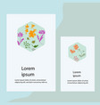 invitation greeting card template for background vector image