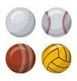 isolated object of sport and ball icon set of vector image
