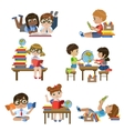 Kinds In Library Set vector image vector image