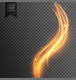 magical transparent light effect in wave style vector image vector image