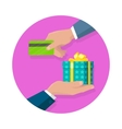 Making Gifts Concept in Flat Design vector image vector image