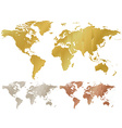 map of the world made of corrugated metal copper vector image vector image