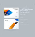 material design style presentation template with vector image vector image