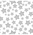 monochrome starry seamless pattern vector image
