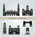 peshawar landmarks vector image vector image