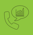 phone call to stockbroker color linear icon vector image