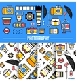 Photograpy concept design with set of photo vector image