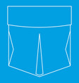 pocket patch icon outline style vector image vector image