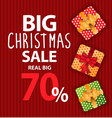 poster big christmas sale and discount vector image vector image