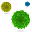 set color fluffy ball on white vector image vector image