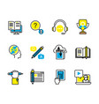 set of study and support icons vector image