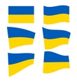 Set of ukrainian flags vector image vector image