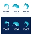 set of water wave and drop icons symbols vector image vector image