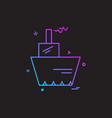 ship icon design vector image