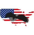 silhouette eagle and America vector image