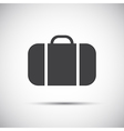 Simple grey suitcase icon vector image
