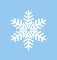 snowflake white on blue isolated vector image vector image