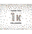 thank you followers peoples 1k online social vector image