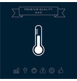 thermometer icon symbol vector image vector image