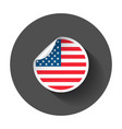 usa sticker with flag america label round tag vector image vector image