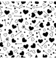 Valentine heart love seamless pattern with arrows vector image vector image