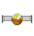 Volleyball and Net Isolated on White vector image vector image