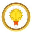 Winner gold rosette icon vector image vector image