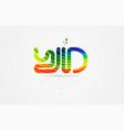 yd y d rainbow colored alphabet letter logo vector image vector image