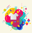T shirt on abstract colorful spotted background vector image