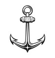 vintage anchor isolated on white vector image