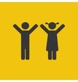 Children silhouette icon vector image