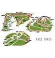race tracks for brazil and italy arab emirates vector image