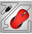 08052015 01mouse red vector image