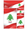 abstract lebanon flag background vector image vector image