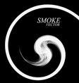 abstract smoke by spiral isolated vector image